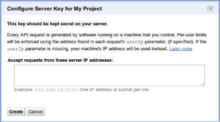 how to create a config file for api key